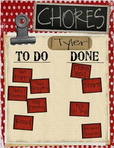 We are finally at the stage where my son can do simple chores.  To help he see his accomplishments and track them...along with earning a few...
