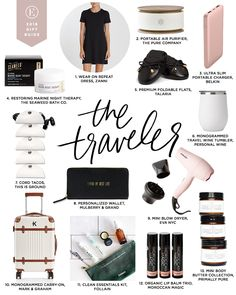 The Everygirl's 2018 Budget-Friendly Holiday Gift Guide Diy Holiday Gifts, Christmas Gift Guide, Diy Gifts, Xmas Gifts, Christmas Wish List, Travel Bag Essentials, Packing Tips For Travel, Airplane Essentials, Travel Advise