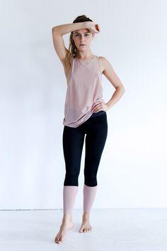 d0c42d1e91d40 @kokurefit | kokure.com - Olympia Activewear petra tank in nude mesh Haute  Yoga