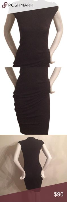 Body-con dress Perfect condition.  Black tight dress. helmut lange Dresses Midi