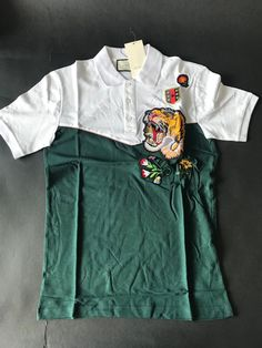 4d2516ed29e Brand New Tiger Brodie Bee Floral Crest Polo T-Shirt Cotton Green Men s XL   fashion  clothing  shoes  accessories  mensclothing  shirts (ebay link)