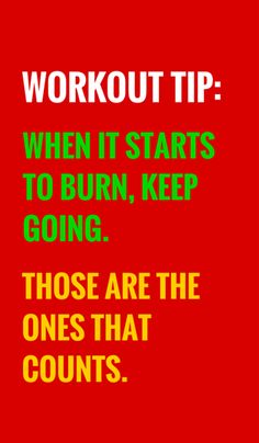 Workout till you feel the burn and then keep going. #fitness #weightloss #diet…