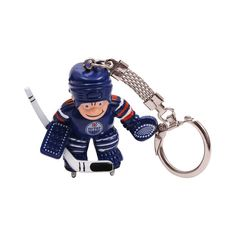 Edmonton Oilers Goalie Keyring