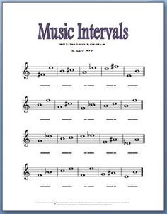 printable music intervals flash cards handouts worksheets major intervals and minor harmonic. Black Bedroom Furniture Sets. Home Design Ideas