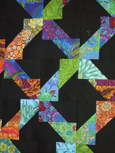 Tutorial - Fun patch quilt - interesting block with high contrast and modern prints!