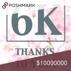 6K + Shoppers 🛍👗🎁🛍📚 Grateful and Thankful 💋❤️🌹Now keep shopping tell your friends 🌎 Accessories