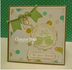 A STAMPIN' UP! BABY SHOWER CARD