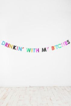 Want this on bunting in pastel colours for hen do thing.