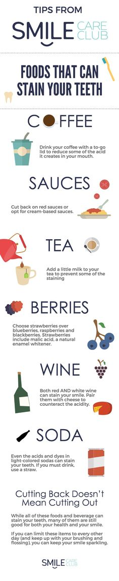 Your favorite foods and drinks that are staining your teeth.
