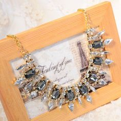 Fashion-Womens-Bib-Statement-Vintage-Necklace-Bubble-Jewelry-Chunky-Collar-Party