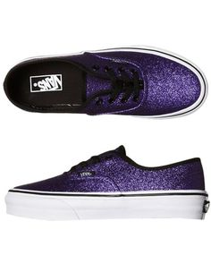 a72f87a8fbfb I would so rock glittery purple Vans