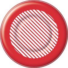 IHR Candy Cane Stripe Christmas Printed Paper Dessert Plates Wholesale PK014801