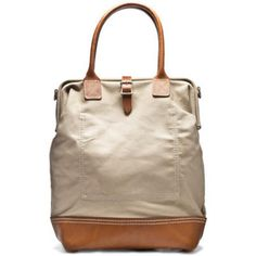 Handmade Canvas and Leather Carryall Bag