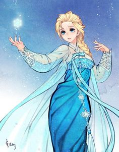 Illustration by na young wu Korean art Frozen Focus on costume