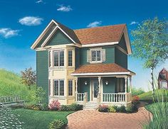 Davenport House Plan - 4554 - Small third bedroom easily becomes my private library. And a second bedroom for guests!