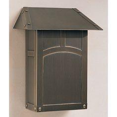 Arroyo Craftsman Evergreen Wall Mounted Mailbox with Rain Overhang & Reviews | Wayfair