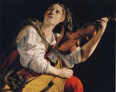 Orazio Gentileschi - Young Woman Playing a Violin - Orazio Gentileschi - Created Jan 1, 1612