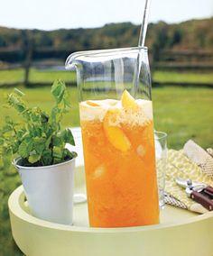 Sweet Peach Tea Recipe  at Epicurious.com