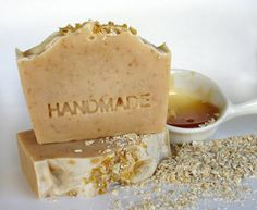 Honey & Oatmeal all Natural gentle Scrub Cold process Soap-Unscented-based on Greek Olive Oil