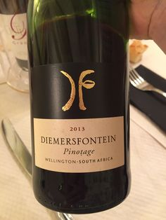 The coffee creme smell and the rich taste is just amazing.  Great Pinotage from South Africa