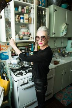 Linda Rodin in #ANINEBING lather pants by The Coveteue