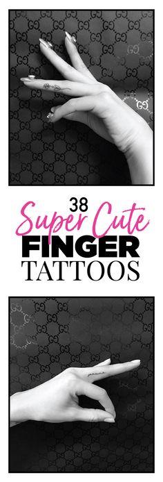 38 Super Cute Finger Tattoos