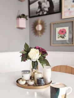 What a weekend - is it too late for coffee? I'm bloody knackered, I'm not sure I'll even make it through tea at this rate! Dining Table Decor Centerpiece, Table Decorations, Cottage Dining Rooms, Coffee Table Makeover, Dining Room Inspiration, Aesthetic Room Decor, Trends, Tablescapes, Townhouse