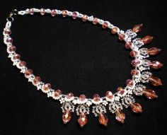 Free pattern for necklace Versailles Click on link to get pattern - http://beadsmagic.com/?p=7787