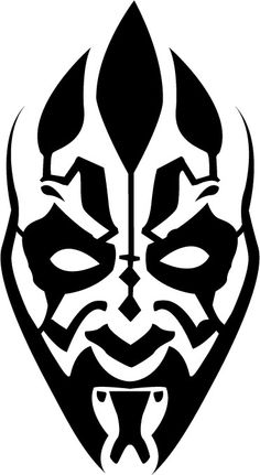 here it is a new vector, which represent the facial tattoo of the powerful Sith Darth Maul seen in Star Wars Episode I. After I saved this picture Illustrator has a crash so i& lost the orig. Simbolos Star Wars, Star Wars Party, Star Wars Humor, Darth Maul, Dark Vader, Star Wars Stencil, Star Wars Personajes, Facial Tattoos, Star Wars Tattoo