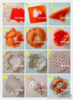 Handmade fabric flowers DIY