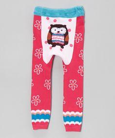 Pink Owl & Flowers Pants