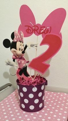 Minnie mouse center piece toppers