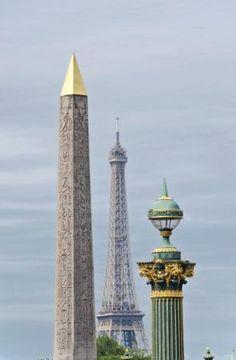 View from Place de la Concorde in Paris, France