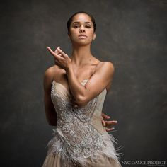 """NYCDanceProject on Instagram: """"""""Other people's words are very powerful, but you can't let them define you. Take what you think is going to help you and don't let the rest beat you down."""" - Misty Copeland, from an interview by Cory Stieg for NYC Dance Project Dress by Trash Couture, hair and makeup by Juliet Jane. @mistyonpointe @corystieg @nycdanceproject @ann_wiberg_couture @abtofficial @julietjane #misty #mistycopeland #nycdanceproject #ballet #abtofficial #abt"""""""