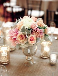 Wedding reception centerpiece idea; Featured Photographer: Lane Dittoe