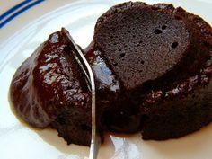 Healthier Molten Chocolate Lava Cake - Sugar-free, Gluten-free, low carb