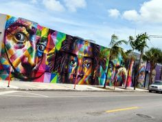 eduardo kobra | Eduardo Kobra – Miami //photo @vidos – mai 2014 – street-art ...