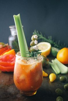 #bloody mary, #rosemary, #infused, #vodka, #goat cheese, #olives