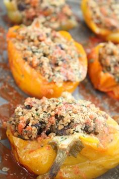 make ahead, and freezes well!!! have to try this!!  Quinoa stuffed vegan peppers