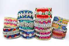 I want ALL of them!!!  Custom Double Row Friendship Bracelet Made to by DolorisPetunia, $125.00