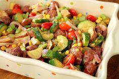 Healthy Roasted Potato & Veggie Salad