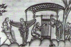 """Norman weavers in the Late 11th and Early 12th Centuries"" The Eadwine Psalter (dated to mid 12th century)."