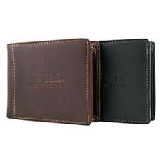 Vyriska pinigine Wild | Odinės vyriskos pinigines Wild.