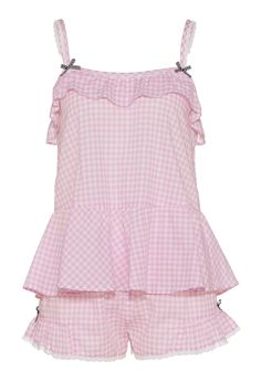 Pink Gingham Shortie Set | Peter Alexander - I don't care if they're PJs, I'll wear them to uni!