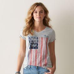64837c4c5 Women's SONOMA Goods for Life™ V-Neck Patriotic Graphic Tee Sonoma Goods  For Life