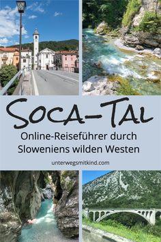 Das Soča-Tal ist ein Natur-Highlight beim Slowenien Urlaub. Im Westen des Triglav Nationalpark gelegen hat es für Outdoor Sportler und Fotografen ebenso viel zu bieten wie für Familien und Kinder. Wir sind dem türkisblauen Fluss von seiner Quelle ab gefolgt und nehmen euch in diesem kleinen Online-Reiseführer mit an die schönsten Plätze im Soča-Tal - inkl. Tipps für Anreise, Unterkunft, Camping und Wandern #socatal #slowenien #soca #urlaub #reisen #wandern #alpen #familienurlaub #nationalpark Rafting, Reisen In Europa, Montenegro, Travel, Outdoor, Family Vacations, Vacation Travel, Outdoors, Viajes