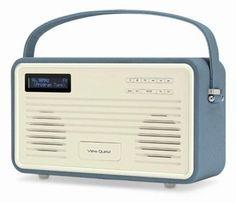 Retro Radio Wekker View Quest DAB+ Blue 8 Pin