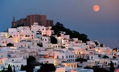 Patmos, the Greek Island of Revelation, Features in New Film (video) Greek Island Tours, Greek Islands, Greek Beauty, Greece Travel, Pilgrimage, World Heritage Sites, Oh The Places You'll Go, Travel Photos, Beautiful Places