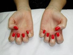 A dry manicure complete with CND Shellac 'Hollywood' nail polish