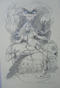 EROTICA COMMISSION BY ESTEBAN MAROTO SOLD  Comic Art